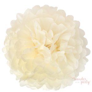 Mini pompón papel de seda beige