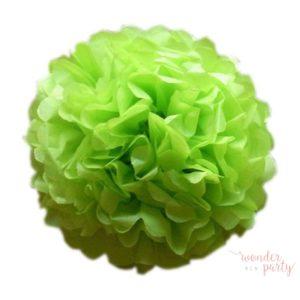 Mini pompón papel de seda verde manzana