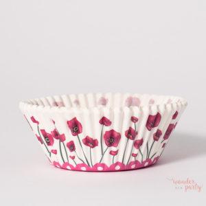 Cápsulas cupcakes flores