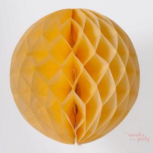 Bola nido de abeja amarilla