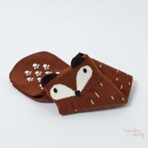 Calcetines Mini Dressing zorro marrón