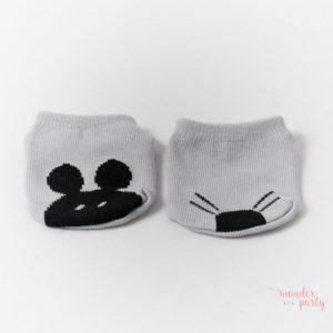 """Calcetines para bebé """"baby mouse"""" gris"""