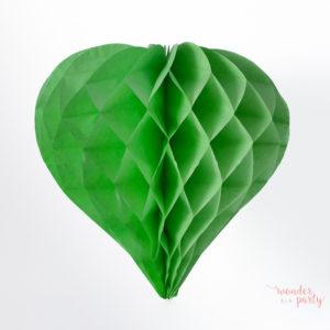 Corazón nido de abeja verde claro