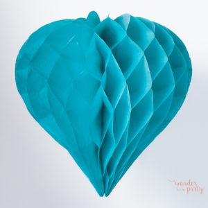 Corazón nido de abeja azul claro