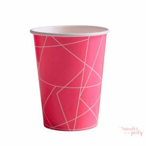 vasos de papel geometric neon