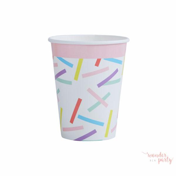vasos de papel confetti pick and mix