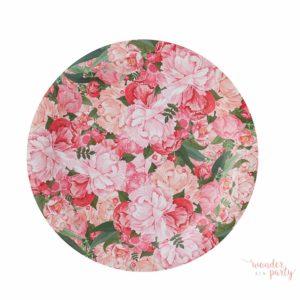 platos de papel boho flores