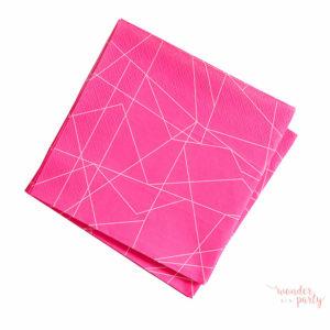 Servilletas de papel geometric neon para fiestas