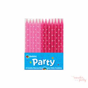 Velas topos rosa y fucsia