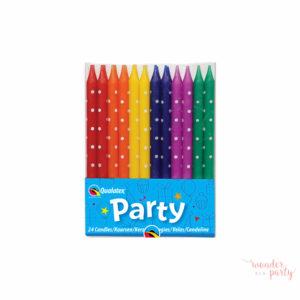 Velas topos multicolor