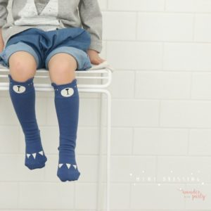 Calcetines Mini Dressing oso azul