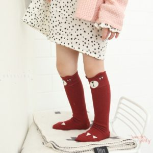 Calcetines Mini Dressing oso bordeaux