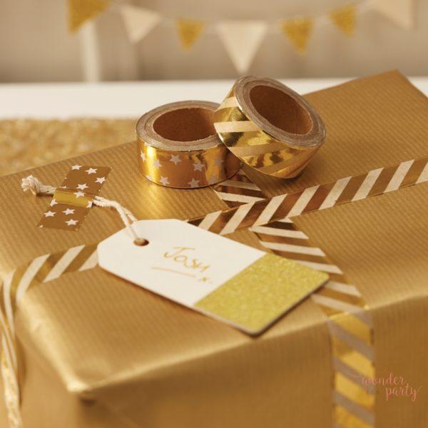 Washi tape dorado Pack 2 unidades