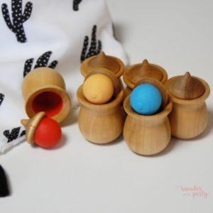 memory de colores en madera