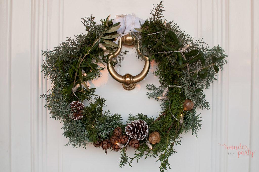 Corona navideña hecha en casa