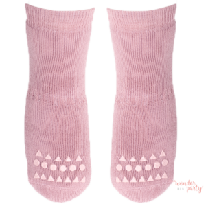 Calcetines antideslizantes rosa claro