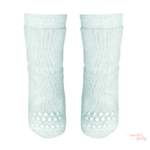 Calcetines antideslizantes verde mint