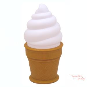 Luz quitamiedos helado blanco grande