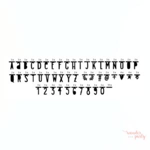 Guirnalda de letras negra