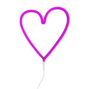 Luz neón corazón rosa