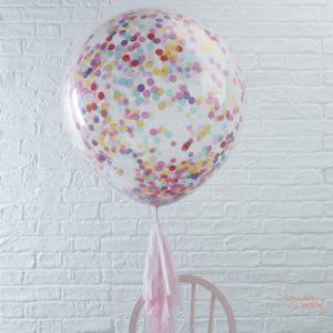 3 Globos gigantes confetti colores