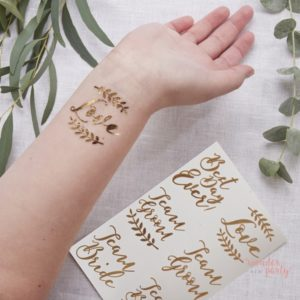 Tatuajes temporales para bodas