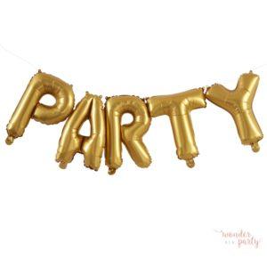 Globos PARTY foil dorado