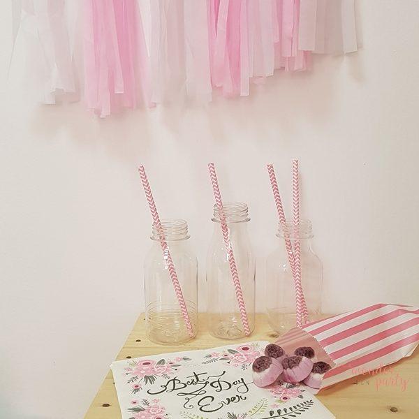 Botellitas de plástico modelo Ana Wonder Party Barcelona, para fiestas, organización de fiestas. Botellitas pra bote de la calma frasco de la calma