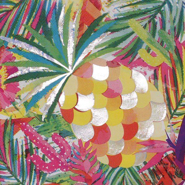 Servilletas de papel tropical iridiscentes