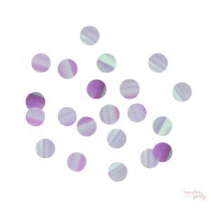 Confetti iridiscente tornasolado para mesa