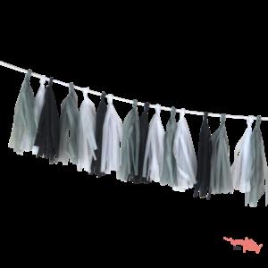 Guirnalda Tassel flecos de papel de seda dark