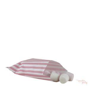 Bolsitas para recuerdos y golosinas rosa y blanca