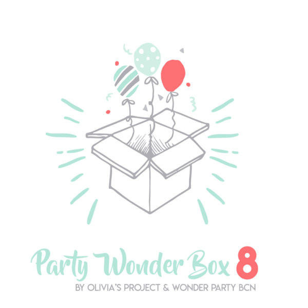 Party Wonder Box unicornio rosa Party Kit Impreso + Menaje