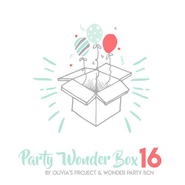 Party Wonder Box Elefantito molón verde mint lunares Party Kit Impreso + Menaje Fiestas tematicas decoracion para fiestas en barcelona Wonder party bcn
