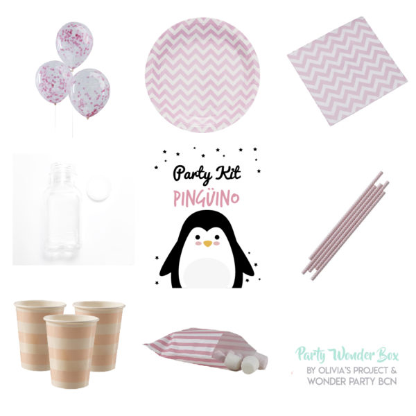 Party Wonder Box pingüino rosa