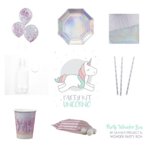 Party Wonder Box unicornio rosa