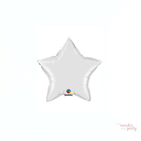 Globo foil estrella blanca pequeña