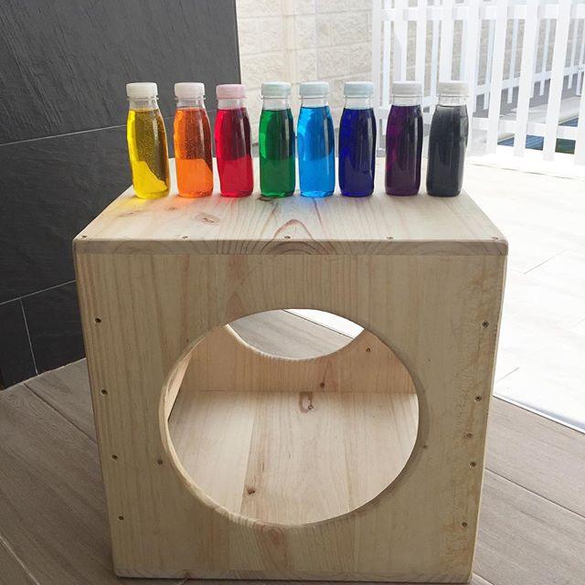 botellitas sensoriales para mesa de luz WOnder Party Bcn