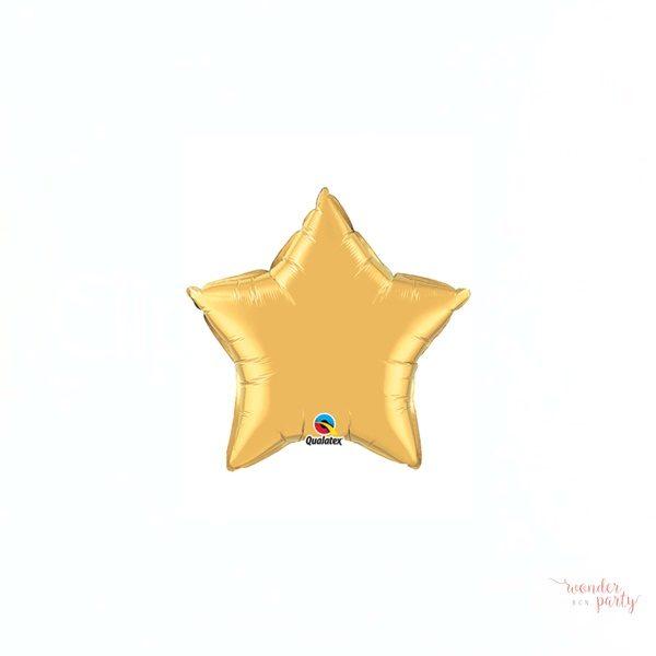 Globo foil estrella dorada dos tamaños
