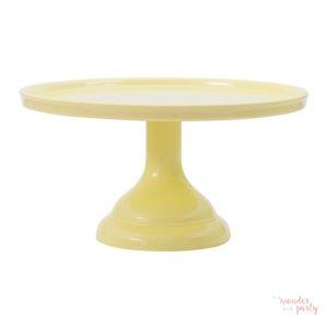 Stand para pastel o cupcakes amarillo