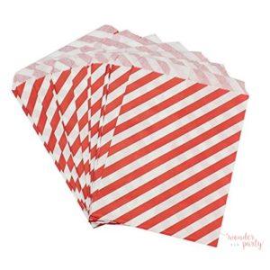 Bolsita de papel para chuches rayas rojas