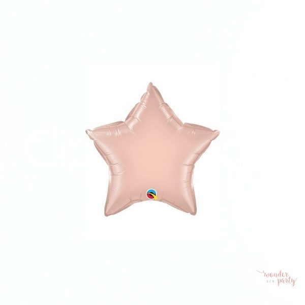 Globo foil estrella oro rosa grande