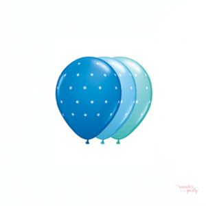 Globos topos lunares varios colores azules