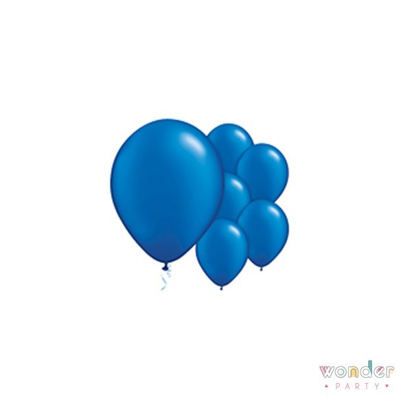 Pack globos látex azul navy 10 unidades 30 cm