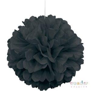 Pompón papel de seda negro