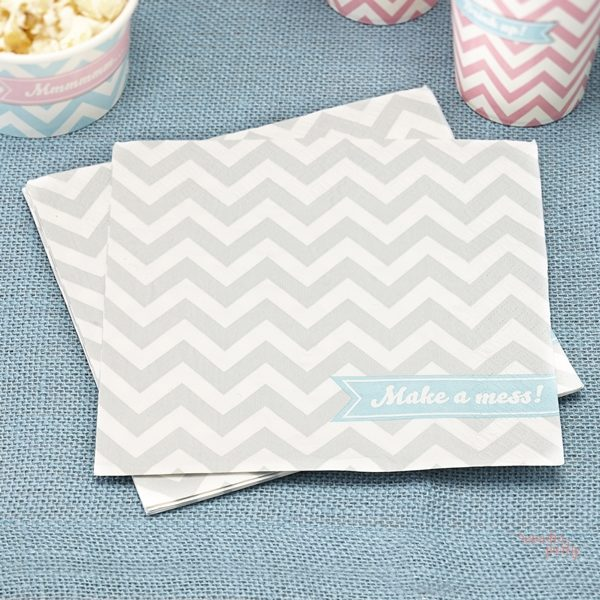 Servilletas de papel chevron gris