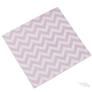 Servilletas de papel chevron rosa pequeñas