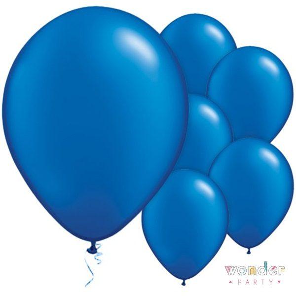 Pack globos látex azul zafiro 10 unidades 30 cm
