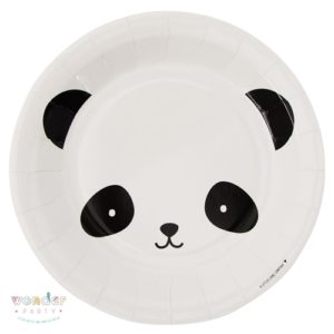 Platos de papel Osito Panda