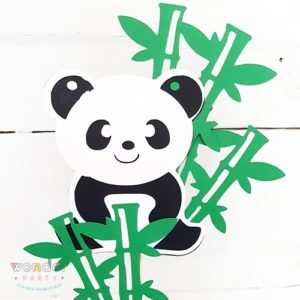 Topper para pastel Oso Panda